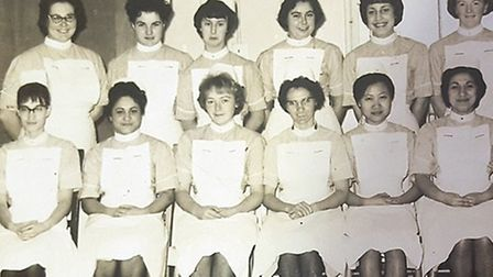 Sophie Fagan, front row second left, arrived from India in 1961 to begin her nurse training. She has