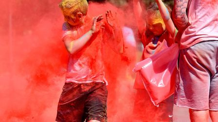 Youngsters from St Margarets Primary Academy take part in a Colour Run at the end of the school summ
