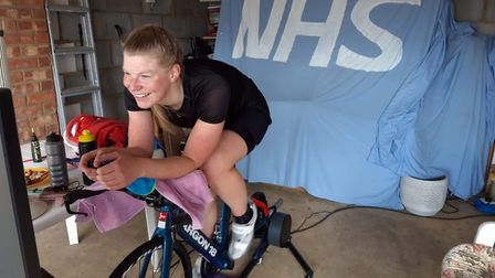 Members of the London Fields Triathlon Club cycled for 12 hours straigh on March 18 to raise money f