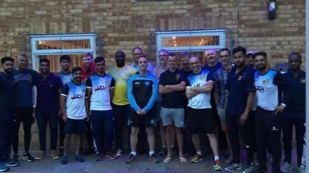Members of Crouch End Cricket Club who helped smash its original �500 target. Picture: Crouch End Cr