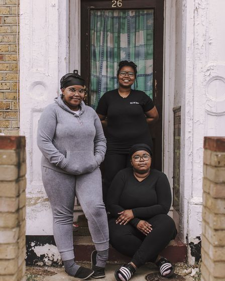 Triplets Abigail, Amanda and Josephine are descendants of the Windrush Generation and have lived on