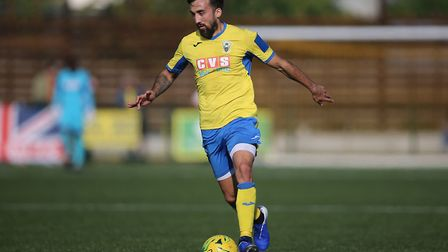 Stelios Demetriou of Haringey who started the season at Macclesfield town during Haringey Borough vs