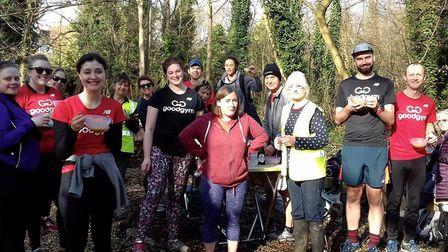 Crouch End Open Space volunteers helping to revamp the Boundary Oak Walk. Picture: CREOS