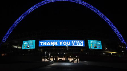 Wembley Arch was illuminated in blue to show its appreciation to the NHS amid the coronavirus outbre