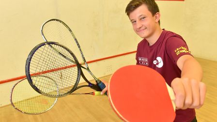 Ross Wilson is set to represent GB at the World Racketlon championships.Picture: Nick Butcher