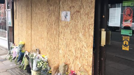 Toff's now boarded up following the attempted break-in. Picture: Deanna Bogdanovic