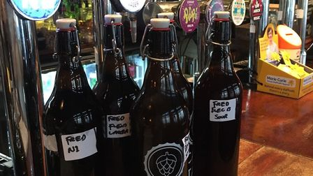 The craft beer deliveries are supported by Caps and Taps in Kentish Town Road. Picture: Rose & Crown