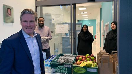 Sir Keir Starmer visits Queen's Crescent Community Association. Picture: QCCA