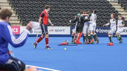 Action from Hampstead & Westminster's clash with Surbiton (pic Mark Clews)