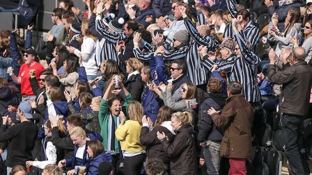 Hampstead & Westminster supporters celebrate (pic Mark Clews)
