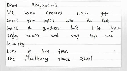 The note posted to people's homes. Picture: The Mulberry House School
