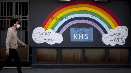 A rainbow in support of the NHS. Picture: PA Images.