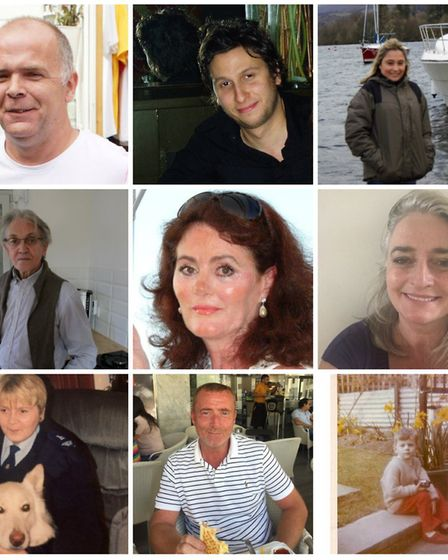 Victims of the contaminated blood inquiry. Pictures: Infected and affected families