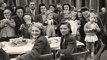 The peace street parties went on for weeks. Daubeney Road, 1945. Picture: Hackney Archives.