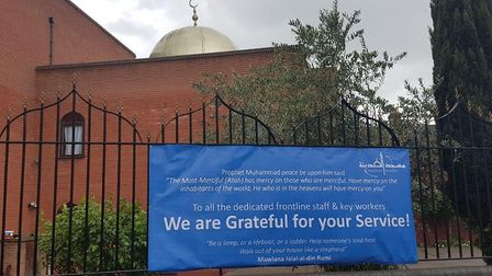 Madina Mosque Trust in Clapton makes sure frontline staff and key workers know it's grateful for the