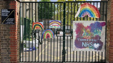 The closed gates of Grasmere Primary School on Albion Road. Picture: Sally Freestone