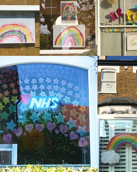 Finsbury Park residents show their appreciation for front-line workers filling their windows with me