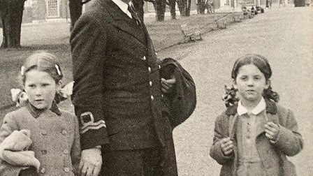 Theo Ionides with his daughters in his naval uniform. He died shortly after D-Day. Picture: Ionides