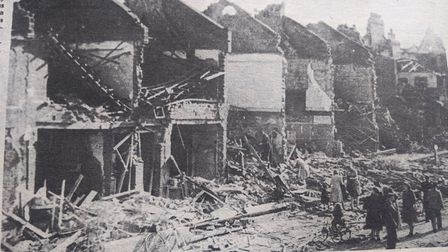 Bombed out houses in wartime Haringey. Picture: Hornsey Journal/Hornsey Historical Society