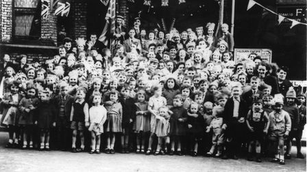VE Day in Maygrove Road, West Hampstead. Picture: Camden Council