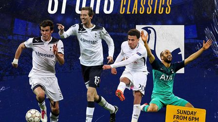 Highlights of classic Champions League matches involving Tottenham are being shown on BT Sport on Ma