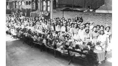 Peace street parties in Daubeney Road,1945. Picture: Hackney Archives