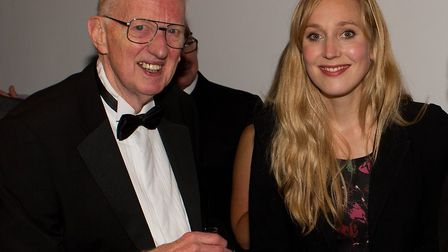 Jeremy with actress Hattie Morahan.