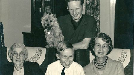 Jeremy Bond as a child with his family.