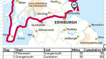 Jack Gatacre is planning to kayak 700 miles around Scotland in 14 days later this summer