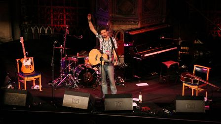 Frank Turner performs live on stage at the Union Chapel