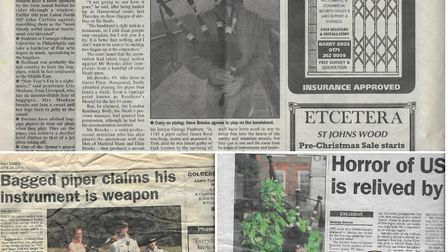Ham&High archive cuttings covering David's court case and him as the Green Man. Picture: Family hand