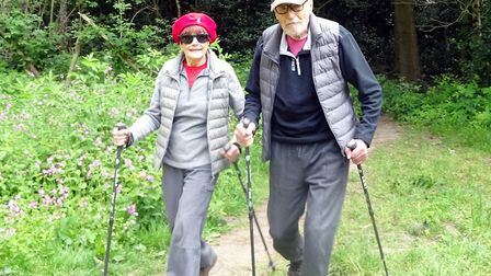 Fundraising nonagenarians Angela and Martin Humphery. Picture: Angela Humphery