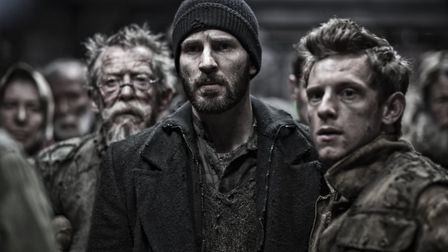 Chris Evans, Tilda Swinton John Hurt and Jamie Bell in Snowpiercer