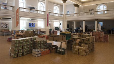 The Greenhouse Centre in London is being used as the distribution centre for the Paddington Food Ban