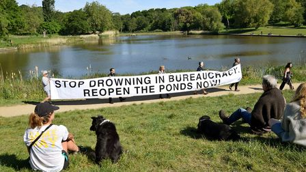 'Stop drowning in bureaucracy,' said some Hampstead Heath swimmers. Picture: Polly Hancock