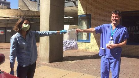 A delivery of masks to staff at St Mary's Hospital. Picture: Alice Sinclair