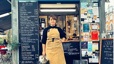 Lizzy in front of her kiosk Lizzy's On The Green. Picture: Lizzy's On The Green
