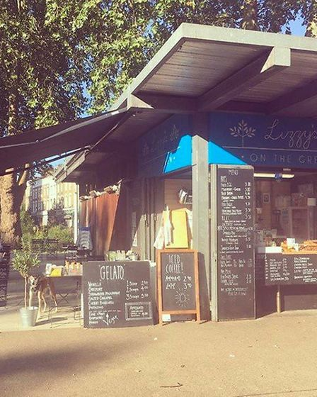 Lizzy runs a cafe out of a kiok in Newington Green. Picture: Lizzy's On The Green