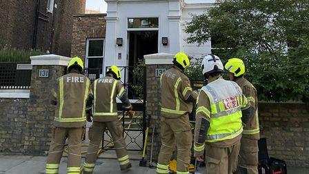 Four fire engines attended the blaze in the residential thoroughfare. Picture: London Fire Brigade