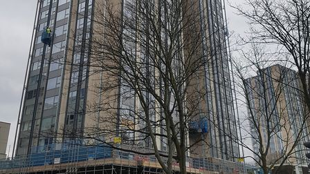 Taplow tower on the Chalcots Estate is one of the towers which will have its windows and curtain wal