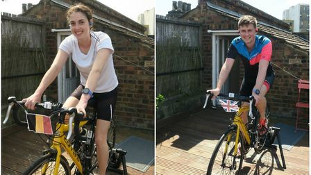 Bethia and James are each cycling 20 miles every day as part of the monster ride. Picture: Bethia Ma