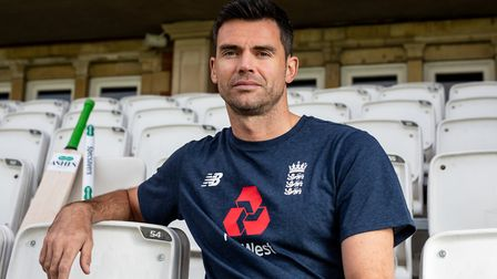 England cricketer James Anderson.