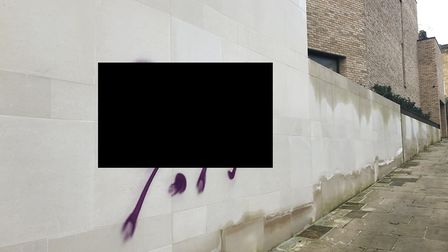 Antisemitic graffiti was sprayed on walls and doors in Hampstead on Saturday, December 28. A wall ne