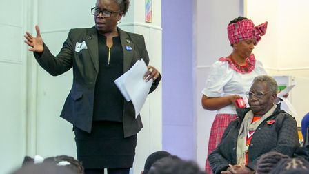 Hackney Cabinet Member for Employment,. Skills and Human Resources Cllr Carole Williams speaking at