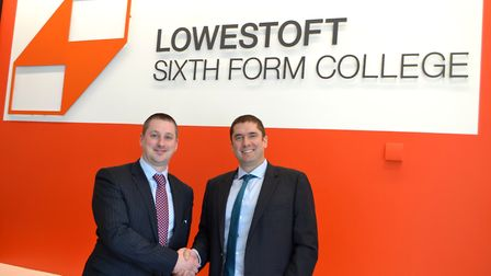 Stuart Rimmer, principal at East Coast College, and David Gartland, Lowestoft Sixth Form College pri