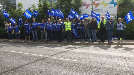 Normal lessons at Lowestoft Sixth Form College were cancelled in July as members of the NASUWT took