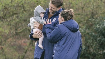 Richard Wijtenburg-Smith with his family (pic Mark Clews)
