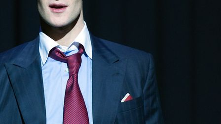 and Hugh Skinner as Luis Carruthers in American Psycho at the Almeida