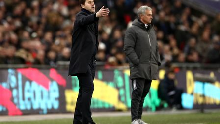 Tottenham Hotspur manager Mauricio Pochettino gestures on the touchline during the Premier League ma