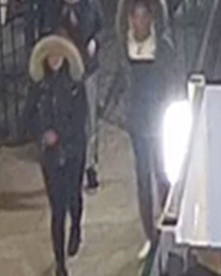 CCTV image of people police wish to identify. Picture: Metropolitan Police